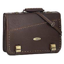 کیف اداری چرم مصنوعی diplomat مدل 326B با ضربه گیر لپ تاپ 15.6 اینچی