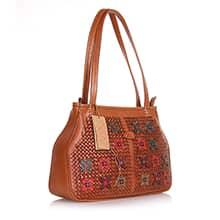 کیف دوشی زنانه چرم طبیعی گاوی مدل SERIN