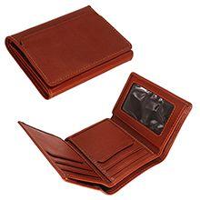 کیف پول جیبی چرم طبیعی مدل دلاری AM131