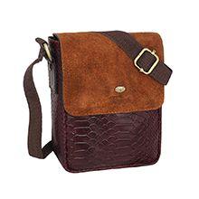 کیف چرم رو دوشی مردانه دست دوز کد CGE10