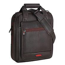 کیف دوشی چرم مصنوعی مدل 2074 با ضربه گیر 12 اینچی لپ تاپ و تبلت