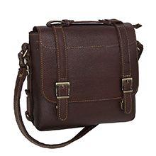 کیف دوشی مردانه چرم طبیعی کد CHD0014