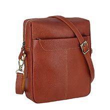 کیف دوشی مردانه چرم طبیعی دست دوز مدل CA35