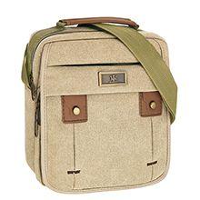 کیف دوشی مردانه maserati سایز XLarge کد 2404 جنس کتان