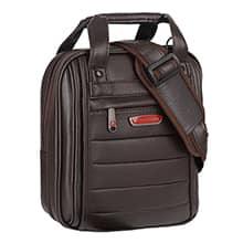 کیف دوشی مردانه طرح چرم pierre cardin مدل LB71 با ضربه گیر 10 اینچی