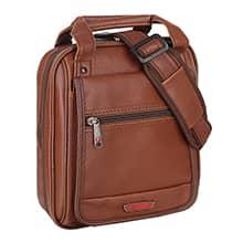 کیف دوشی مردانه چرم مصنوعی پیرگاردین مدل LA71 با محافظ تبلت 10 اینچی