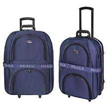 مجموعه دو عددی چمدان مسافرتی چرخدار PRADA مدل 954A سایز بزرگ و متوسط
