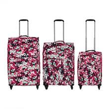 مجموعه سه عددی چمدان genevoa مدل G10 چهار چرخ
