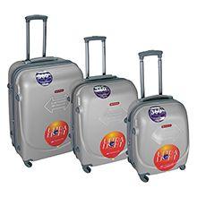 ست سه عددی چمدان چرخدار مسافرتی فایبرگلاس کد TL257