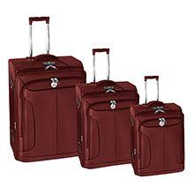 مجموعه سه عددی چمدان مسافرتی برزنتی چرخدار تاپ کینگ مدل TL305