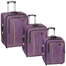 ست سه تکه چمدان مسافرتی چرخدار دسته تراول دار مدل CM100