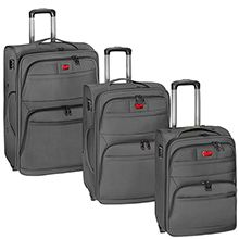 مجموعه سه عددی چمدان مسافرتی چرخ دار پیرگاردین مدل CM110 با دسته تراول
