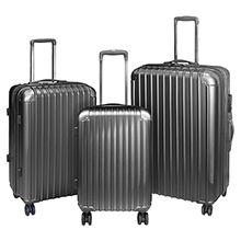 ست 3 عددی چمدان مسافرتی فایبرگلاس 4 چرخ اسکیتی مدل 2677