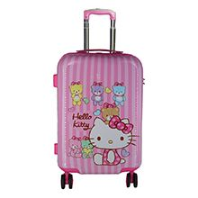 چمدان دخترانه چرخدار بچه گانه طرح کیتی مدل K2283