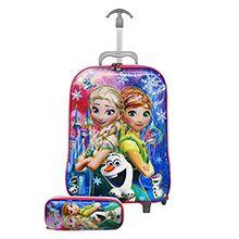 چمدان بچه گانه دخترانه چرخدار کد 1397A همراه جامدادی
