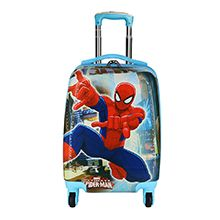 چمدان کودک پسرانه طرح اسپایدرمن مدل spidy16 چرخدار فایبرگلاس