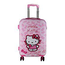 چمدان بچه گانه دخترانه طرح kitty مدل KIT83 چهارچرخ